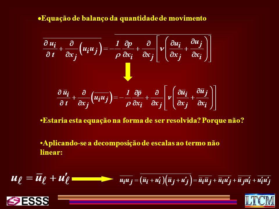 Equação de balanço da quantidade de movimento