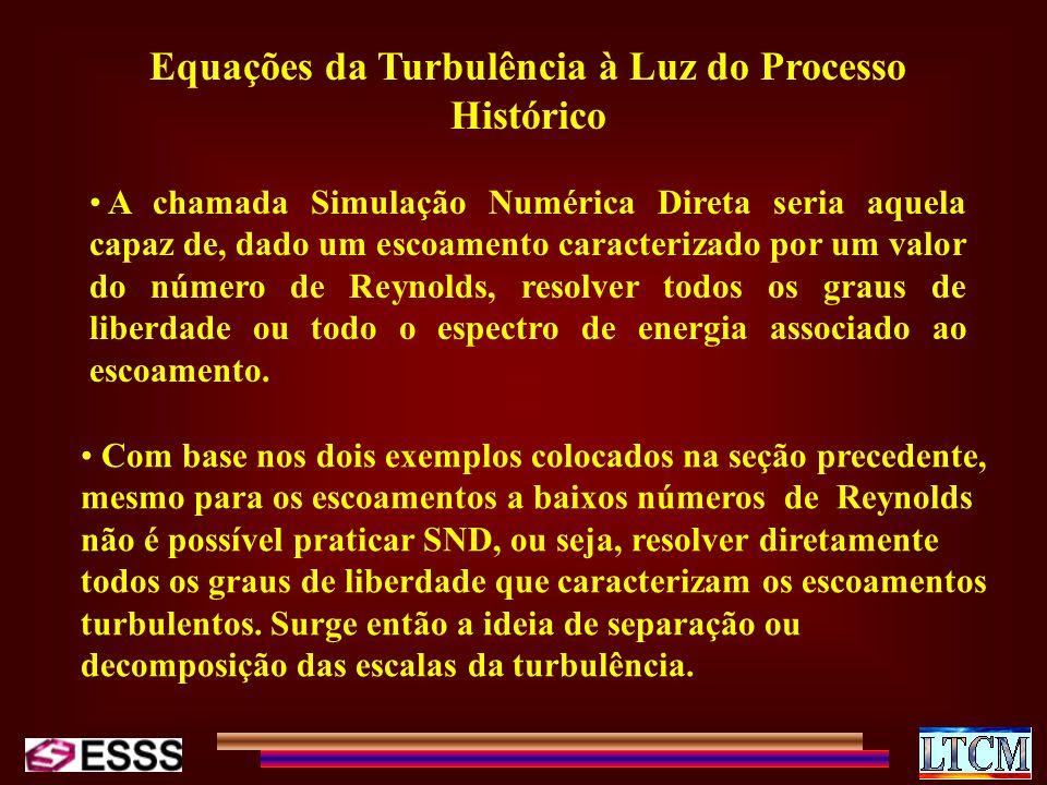 Equações da Turbulência à Luz do Processo Histórico