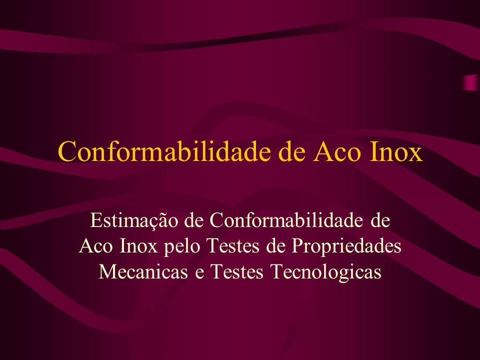 Conformabilidade de Aco Inox