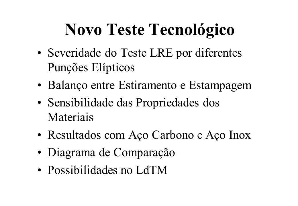 Novo Teste Tecnológico