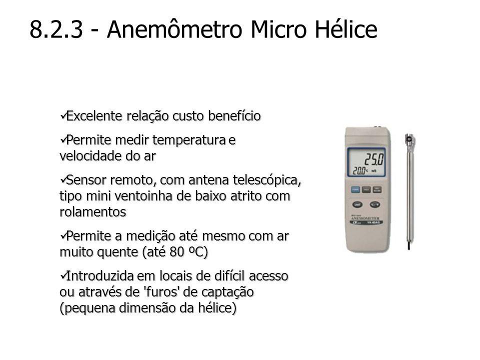 8.2.3 - Anemômetro Micro Hélice