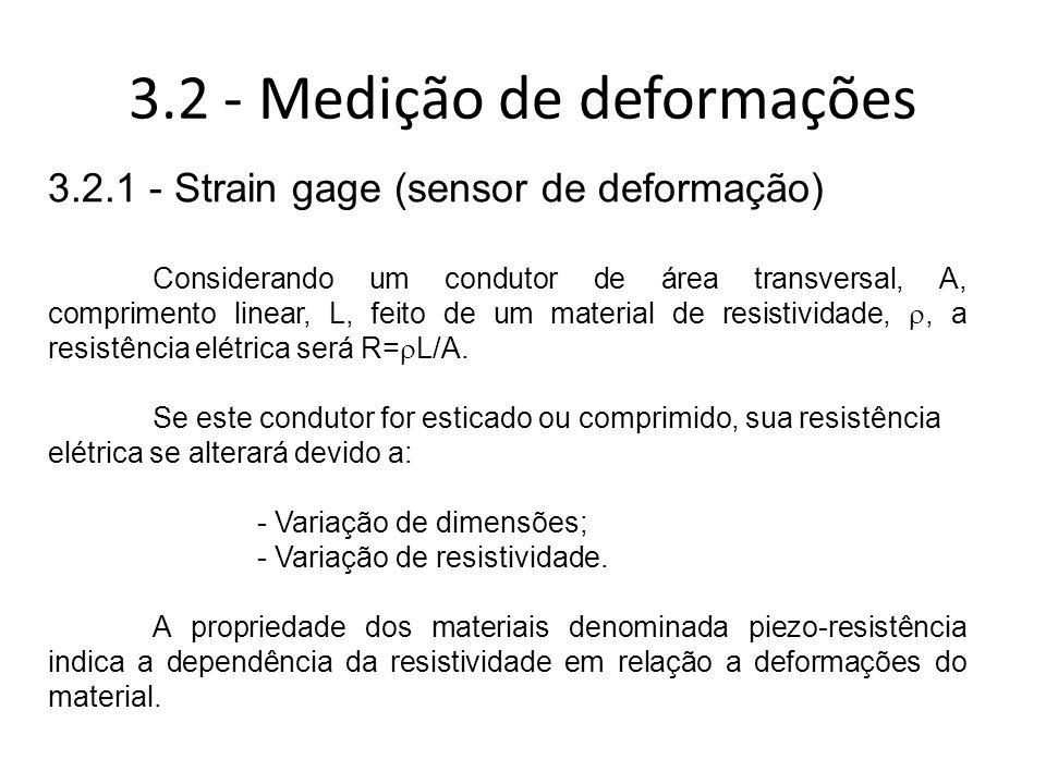 3.2 - Medição de deformações