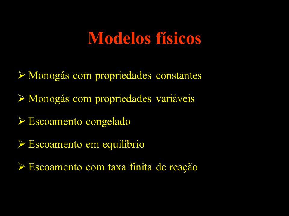 Modelos físicos Monogás com propriedades constantes