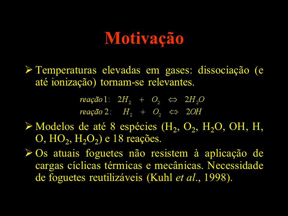 Motivação Temperaturas elevadas em gases: dissociação (e até ionização) tornam-se relevantes.