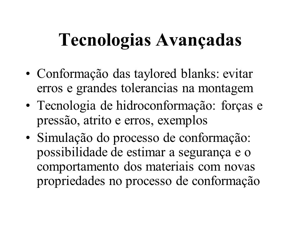 Tecnologias Avançadas
