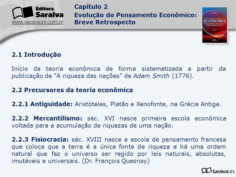 2.2 Precursores da teoria econômica
