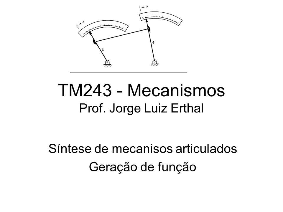 TM243 - Mecanismos Prof. Jorge Luiz Erthal