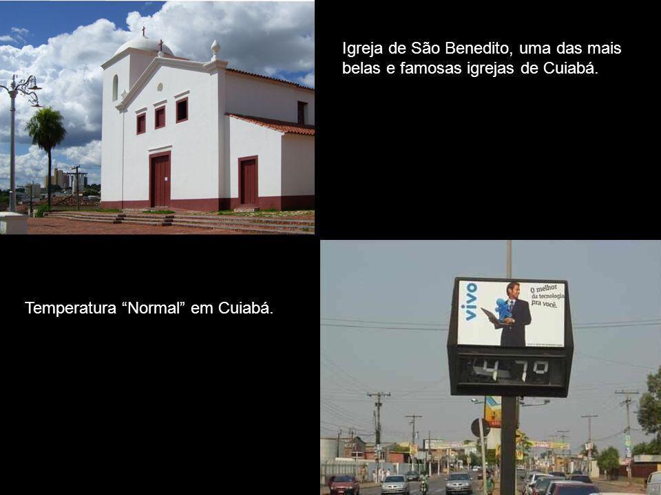 Reja Igreja de São Benedito, uma das mais belas e famosas igrejas de Cuiabá.