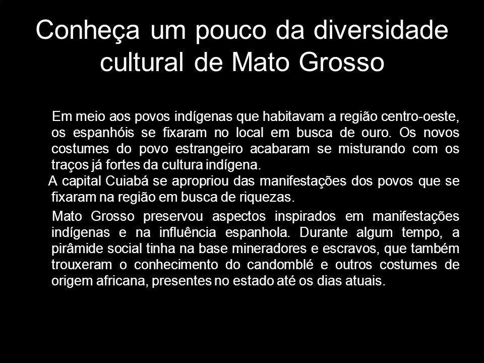 Conheça um pouco da diversidade cultural de Mato Grosso