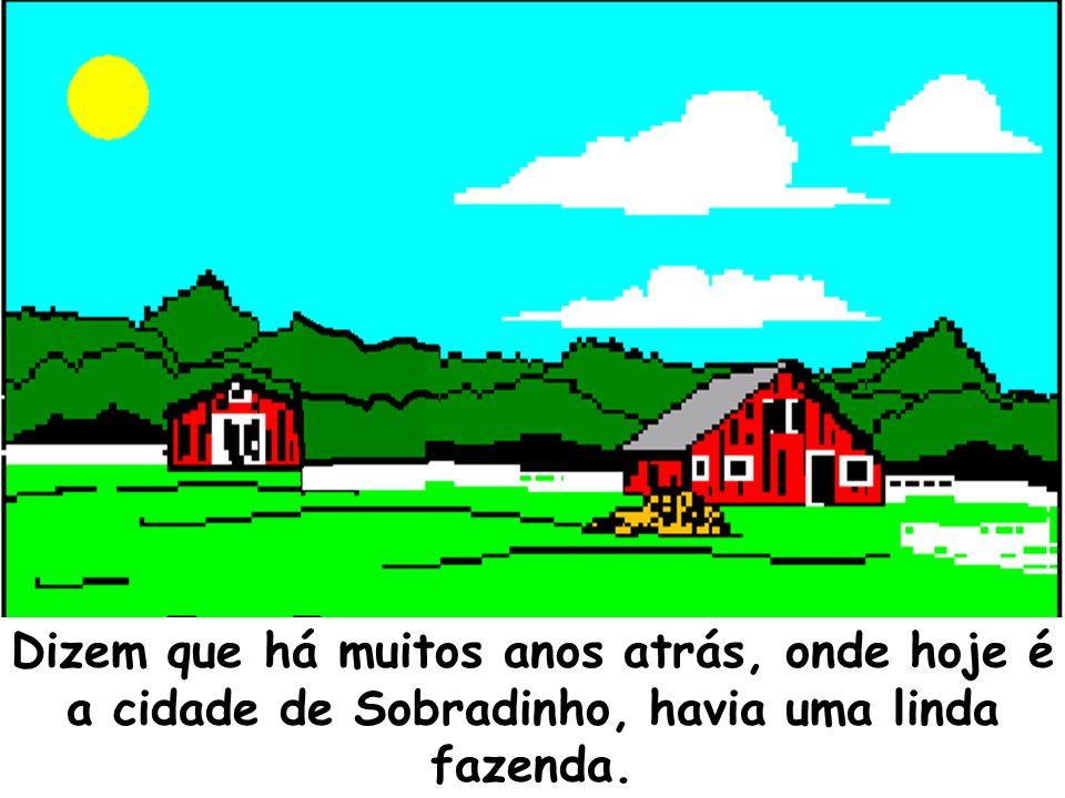Dizem que há muitos anos atrás, onde hoje é a cidade de Sobradinho, havia uma linda fazenda.
