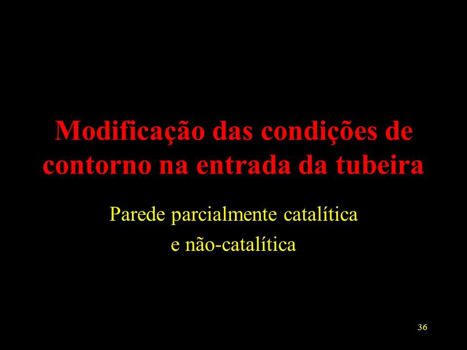 Modificação das condições de contorno na entrada da tubeira