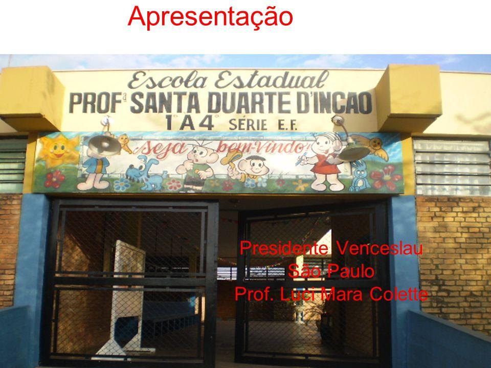 Presidente Venceslau São Paulo Prof. Luci Mara Colette