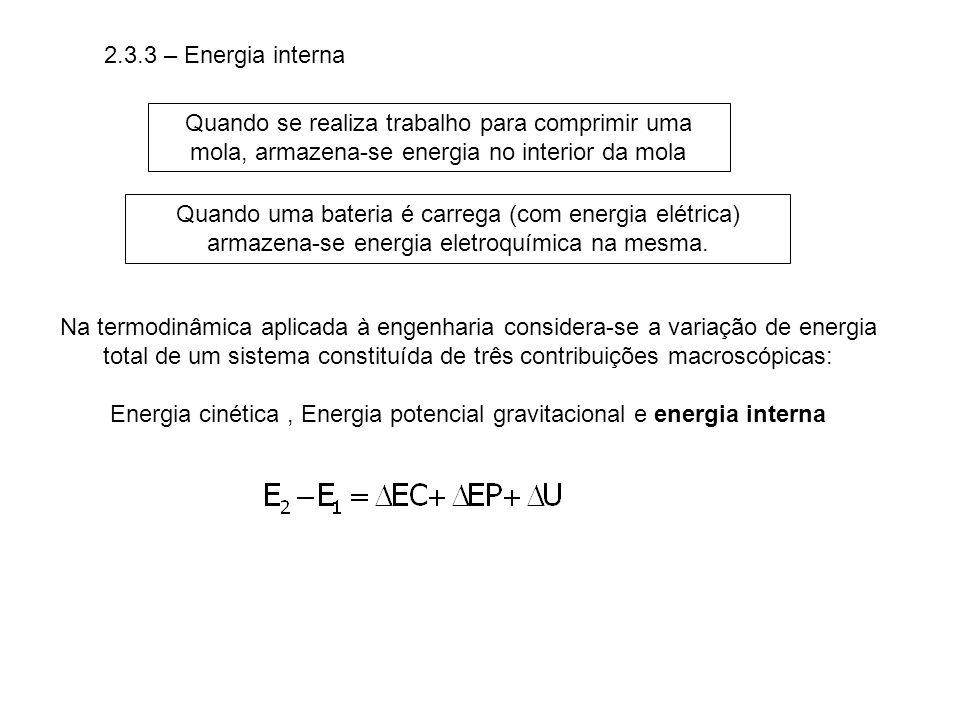 Energia cinética , Energia potencial gravitacional e energia interna