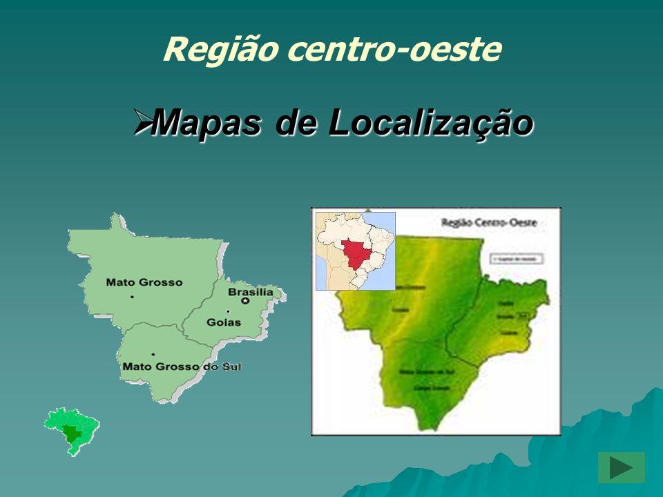 Região centro-oeste Mapas de Localização
