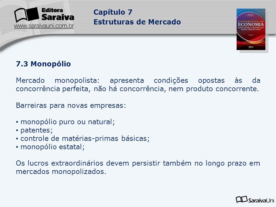 Barreiras para novas empresas: monopólio puro ou natural; patentes;
