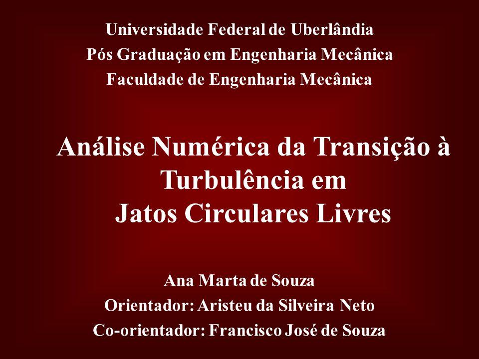 Análise Numérica da Transição à Turbulência em Jatos Circulares Livres