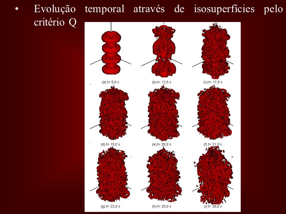 Evolução temporal através de isosuperfícies pelo critério Q