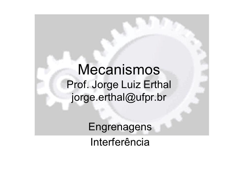 Mecanismos Prof. Jorge Luiz Erthal jorge.erthal@ufpr.br