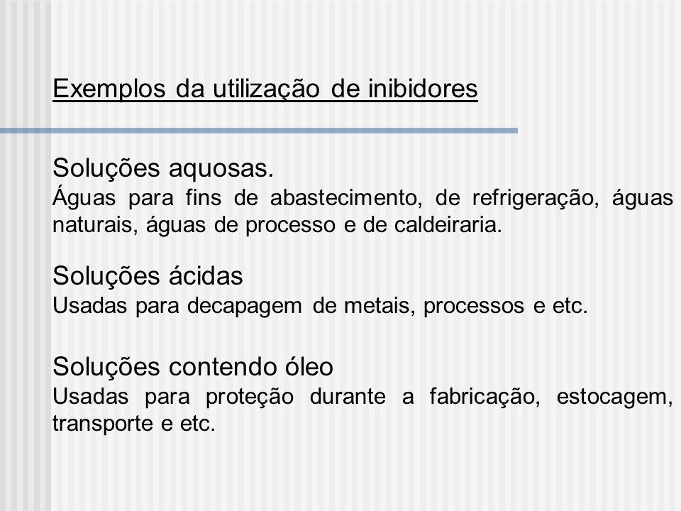 Exemplos da utilização de inibidores