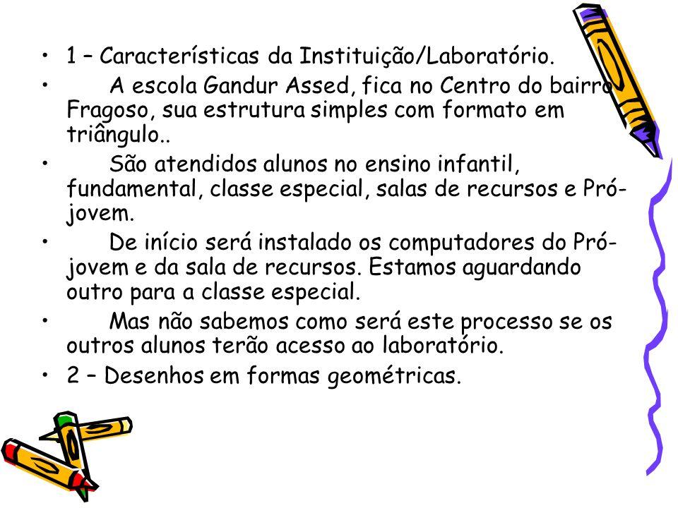 1 – Características da Instituição/Laboratório.