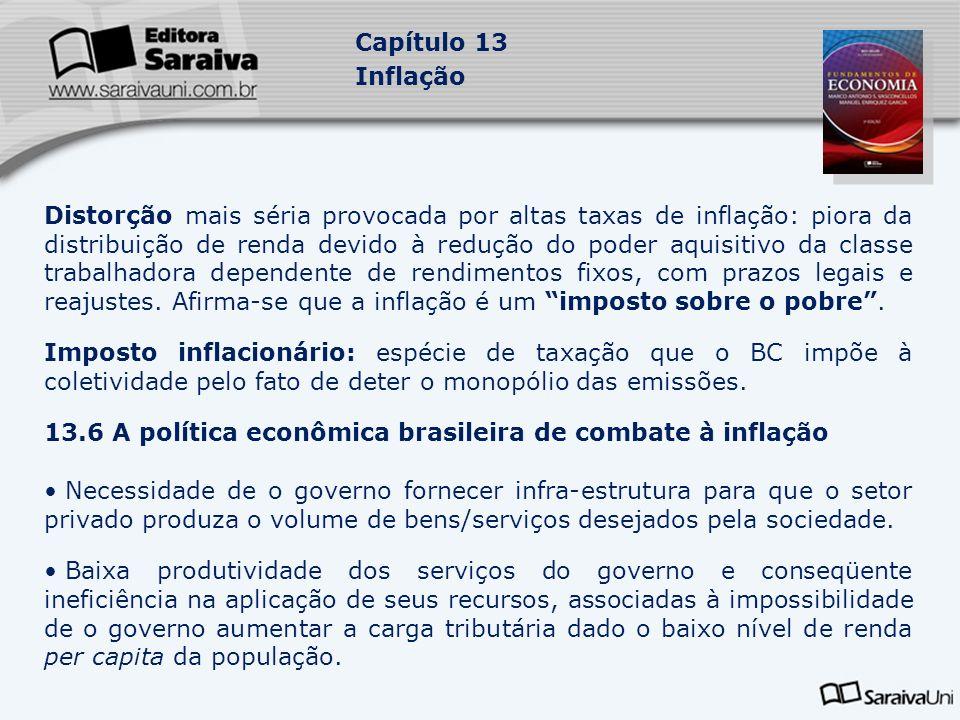 13.6 A política econômica brasileira de combate à inflação