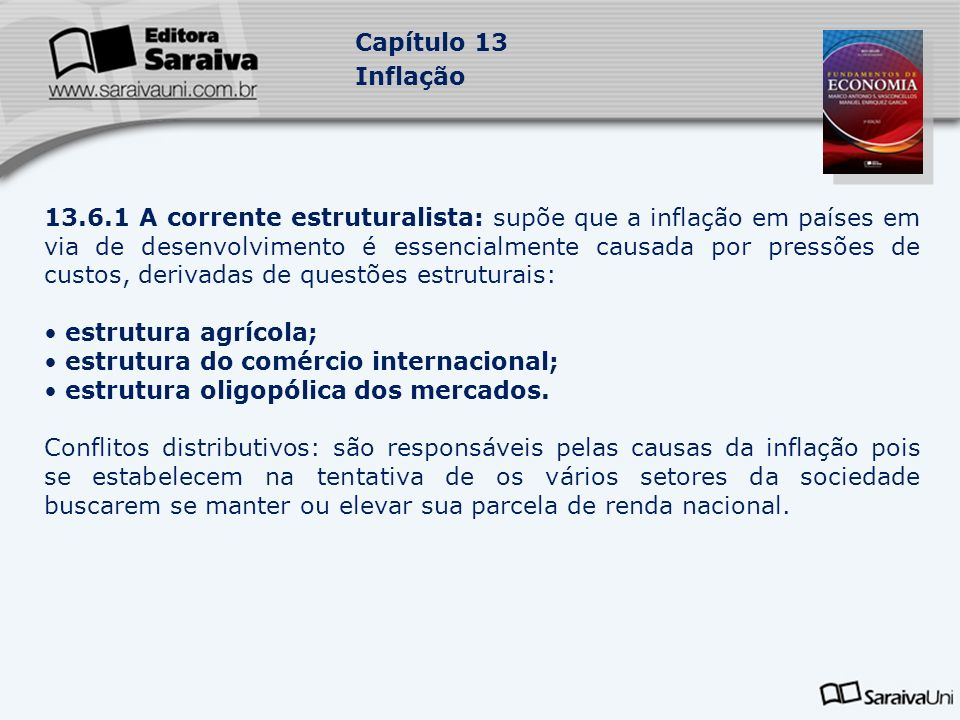 estrutura do comércio internacional;