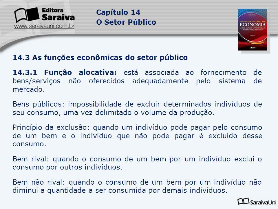 14.3 As funções econômicas do setor público