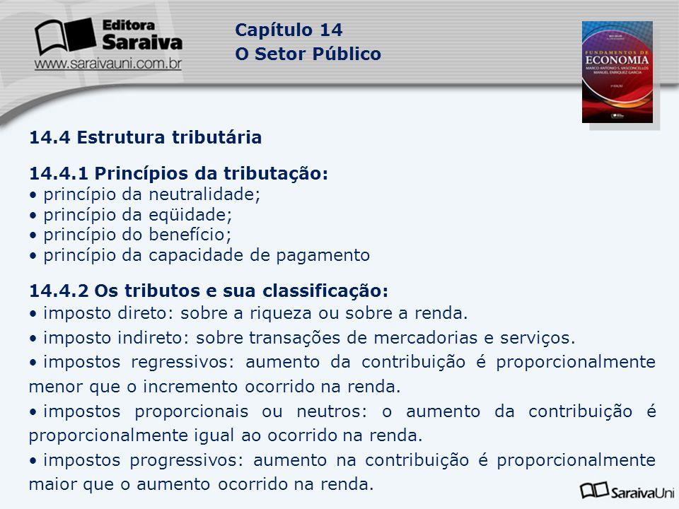 14.4.1 Princípios da tributação: princípio da neutralidade;