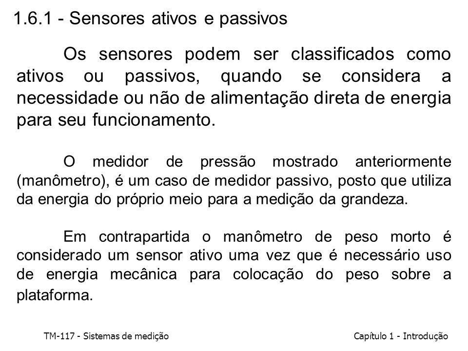 1.6.1 - Sensores ativos e passivos