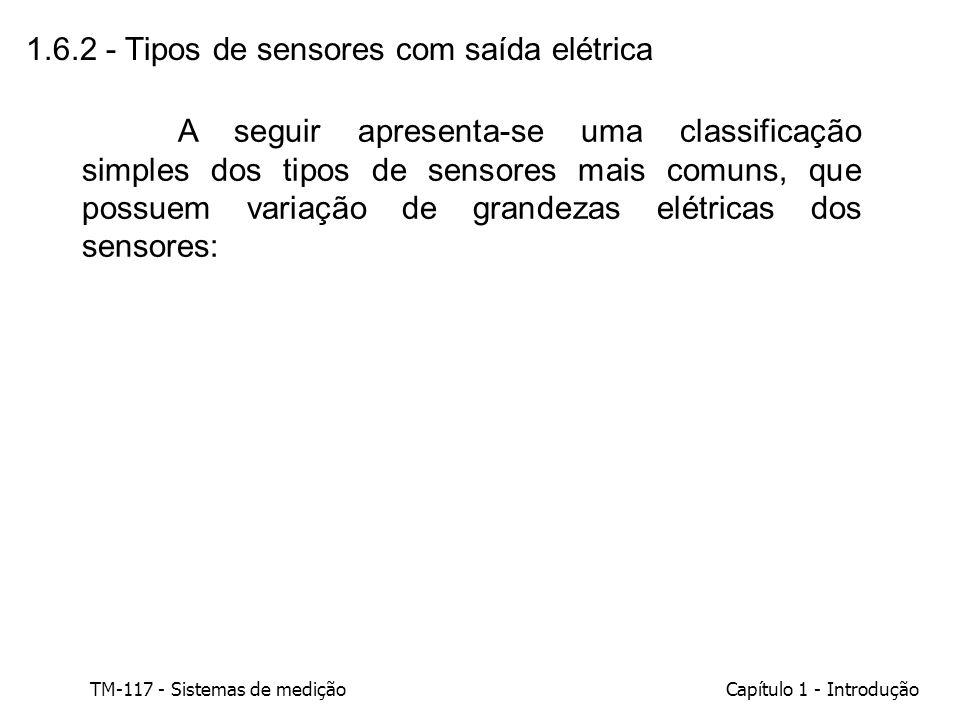 1.6.2 - Tipos de sensores com saída elétrica