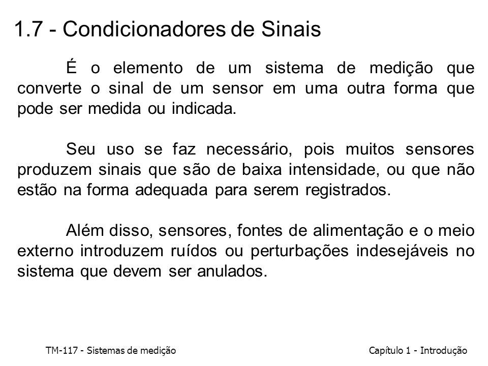 1.7 - Condicionadores de Sinais