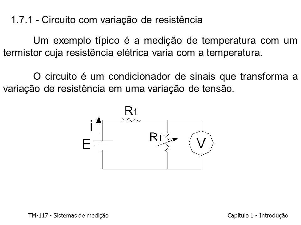 1.7.1 - Circuito com variação de resistência