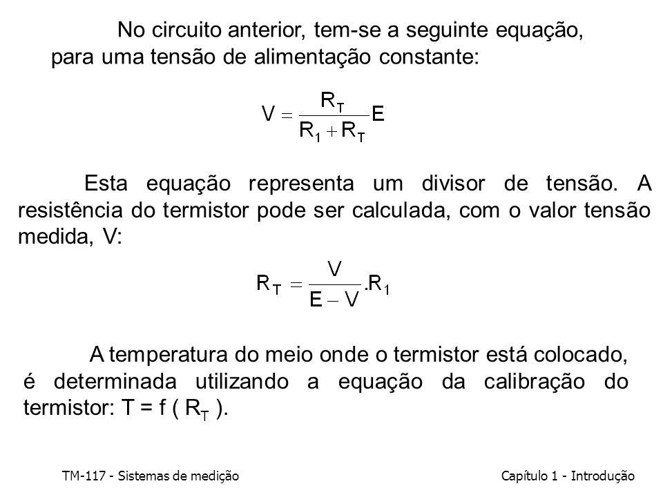 No circuito anterior, tem-se a seguinte equação, para uma tensão de alimentação constante: