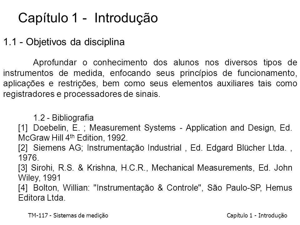 Capítulo 1 - Introdução 1.1 - Objetivos da disciplina
