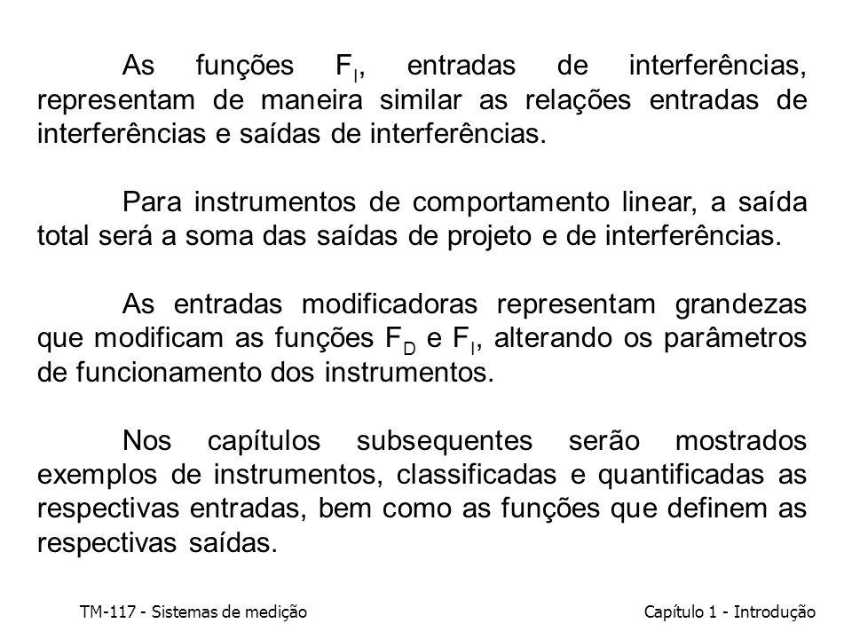 As funções FI, entradas de interferências, representam de maneira similar as relações entradas de interferências e saídas de interferências.