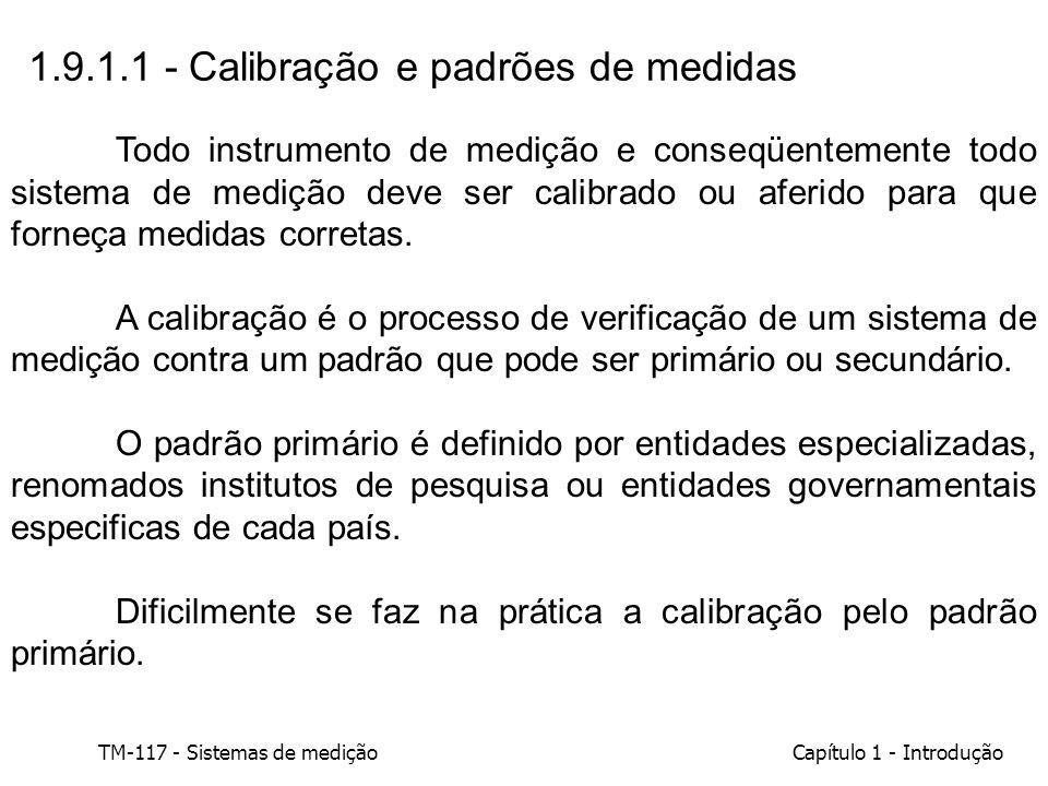 1.9.1.1 - Calibração e padrões de medidas