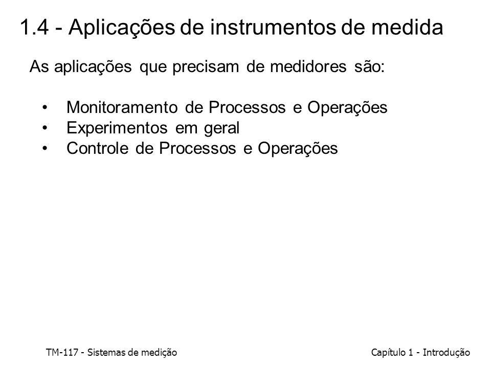 1.4 - Aplicações de instrumentos de medida