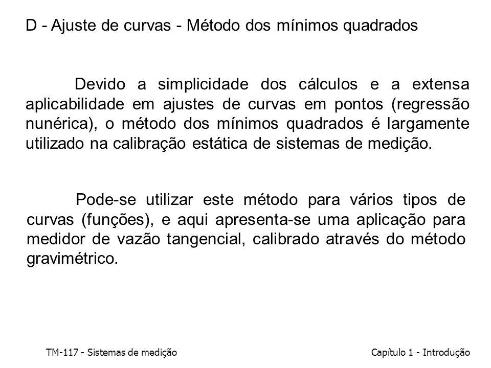 D - Ajuste de curvas - Método dos mínimos quadrados