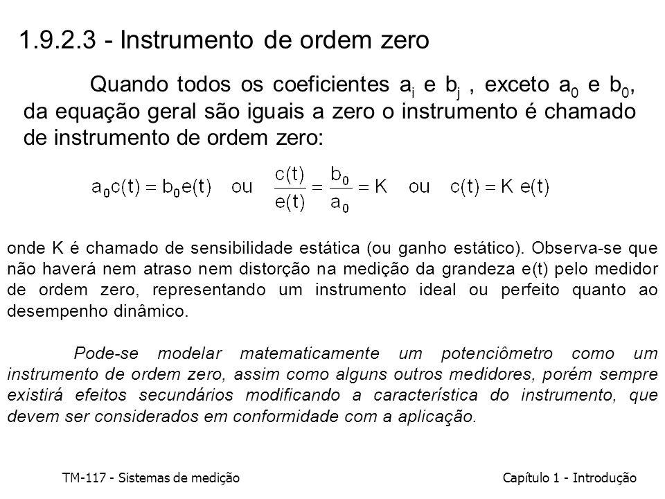 1.9.2.3 - Instrumento de ordem zero