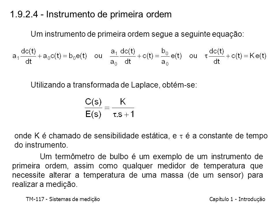 1.9.2.4 - Instrumento de primeira ordem