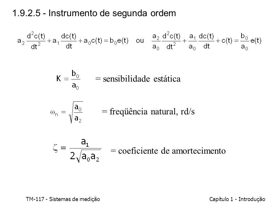1.9.2.5 - Instrumento de segunda ordem