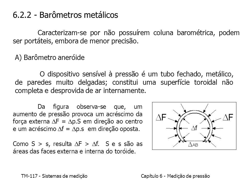 6.2.2 - Barômetros metálicos