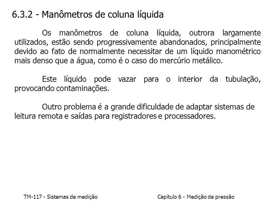 6.3.2 - Manômetros de coluna líquida