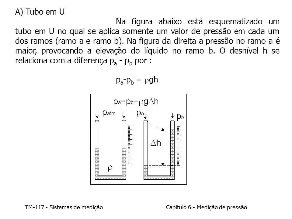 A) Tubo em U