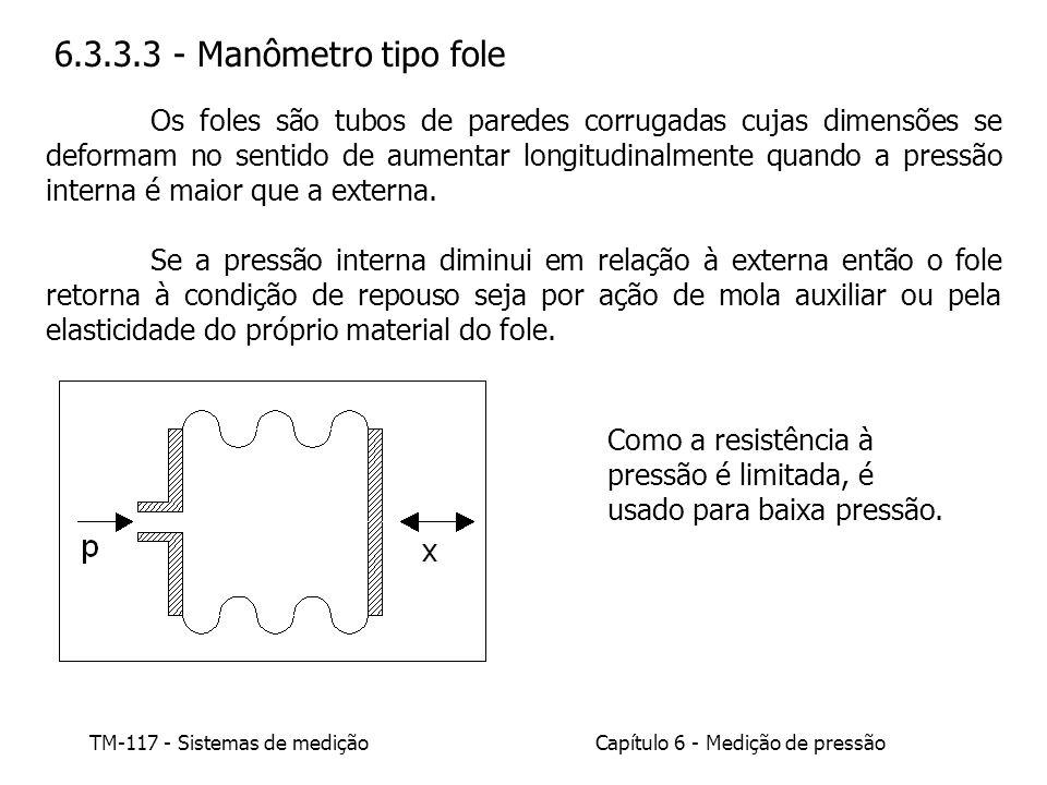 6.3.3.3 - Manômetro tipo fole