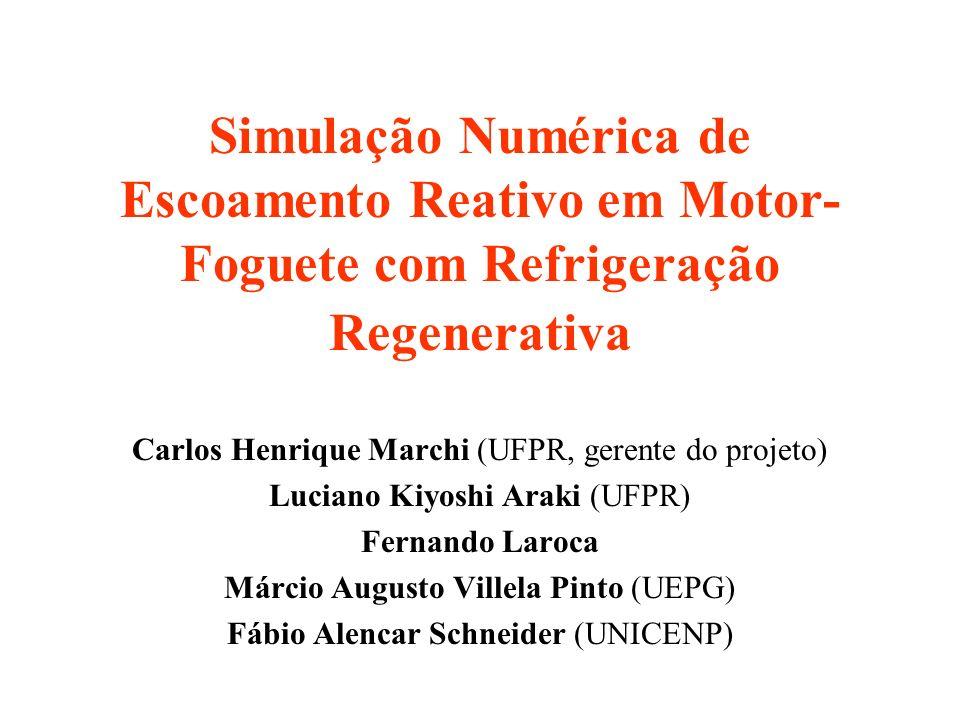 Simulação Numérica de Escoamento Reativo em Motor-Foguete com Refrigeração Regenerativa
