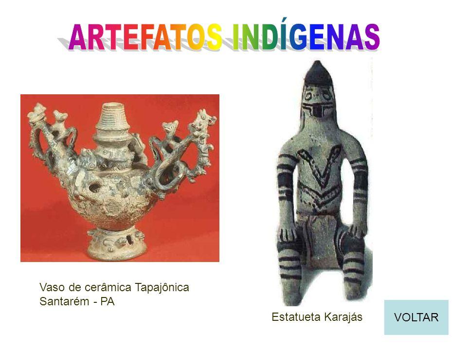 ARTEFATOS INDÍGENAS Vaso de cerâmica Tapajônica Santarém - PA VOLTAR
