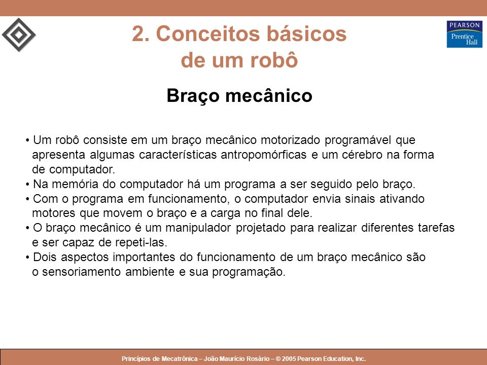 2. Conceitos básicos de um robô
