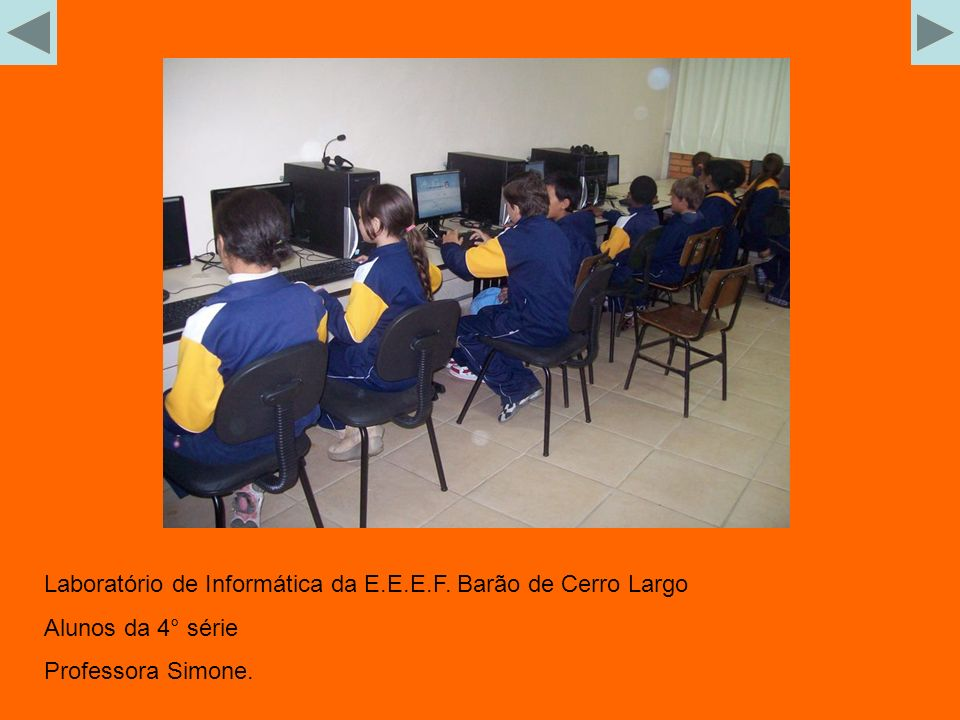 Laboratório de Informática da E.E.E.F. Barão de Cerro Largo
