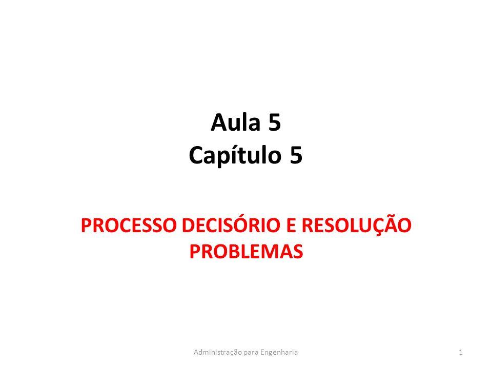 PROCESSO DECISÓRIO E RESOLUÇÃO PROBLEMAS